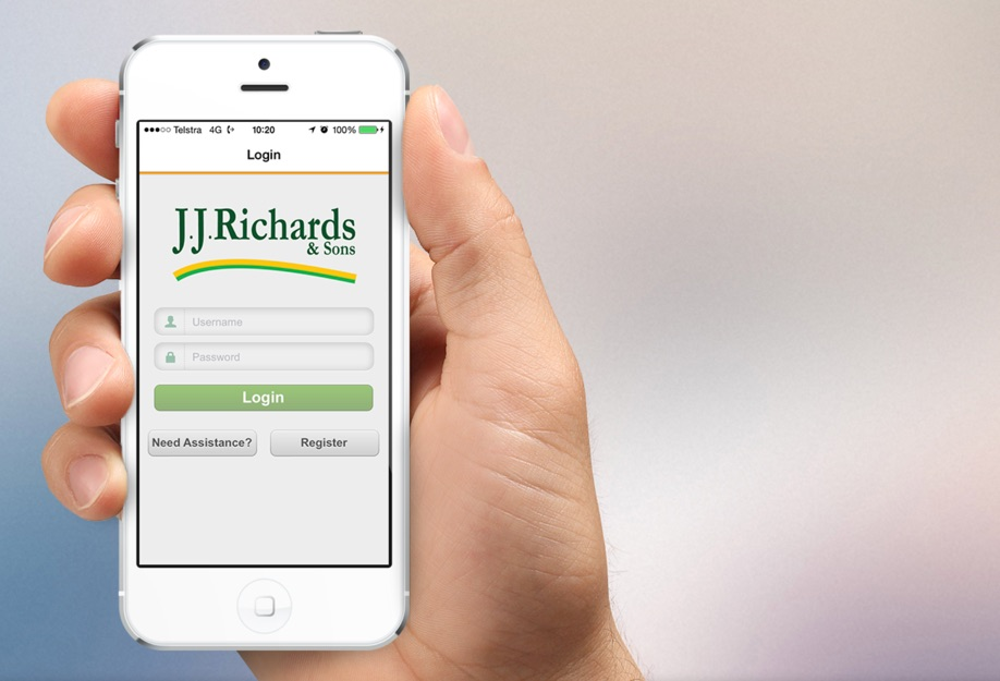 Introduced the JJ Richards customer portal App